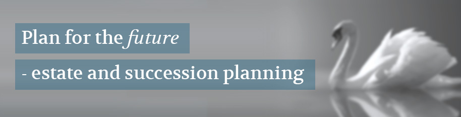 Plan for the future - estate and succession planning